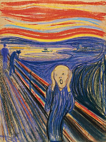 (The Scream, by Munch, 1895)