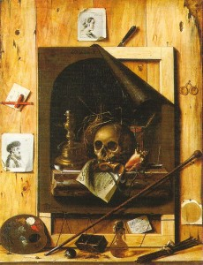 "Life, like this trompe l'Oeil, is a ""trick of the eye."""